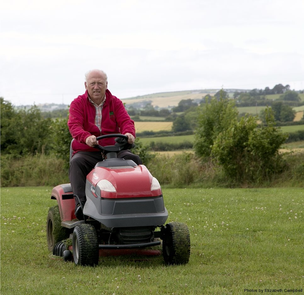 Ronnie on the Mower